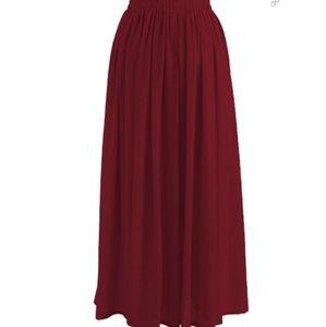 Dresses & Skirts - Wine chiffon skirt